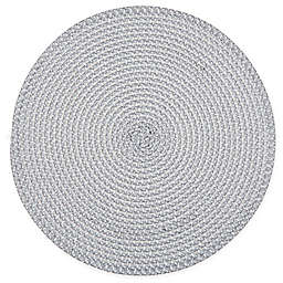 Simply Essential™ Round Braid Placemat in Grey