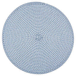 Simply Essential™ Round Braid Placemat in Navy