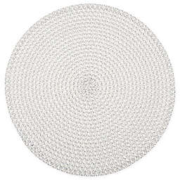 Simply Essential™ Round Braid Placemat in White