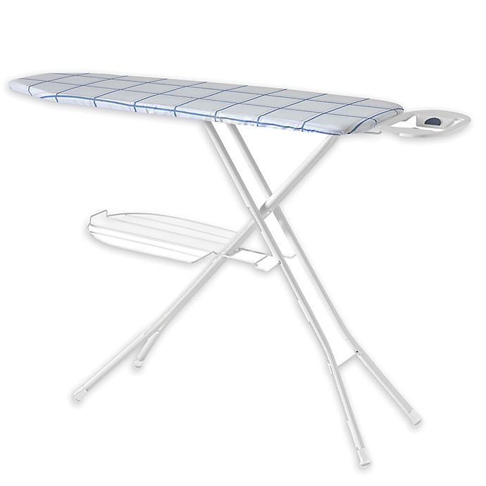 Alternate image 1 for Squared Away™ Deluxe Compact Ironing Board in Plaid