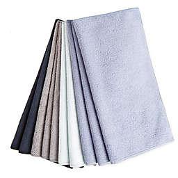 Simply Essential™ 10-Pack Microfiber Cloth in Black/Blue
