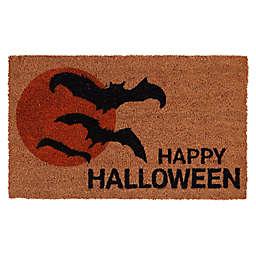 """Halloween Bat Icon 30"""" x 18"""" Coir Door Mat"""