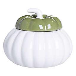 Crisp Autumn Air Ceramic Harvest Large Jar Candle in Green