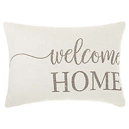 Bee & Willow™ Home Welcome Home Throw Pillow in Coconut Milk/Grey
