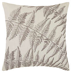 Bee & Willow™ Home Triple Fern Embroidered Square Throw Pillow in Coconut Milk/Grey