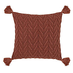 Bee & Willow™ Home Cozy Knit Tassel Square Throw Pillow