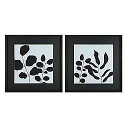 Studio 3B™ Leafy Shadows 30-Inch x 30-Inch Framed Art Prints (Set of 2)