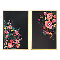 Wild Sage™ Vibrant Floral 20-inch x 30-Inch Framed Canvas Wall Art (Set of 2)