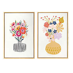 Wild Sage™ Vases 20-inch x 30-Inch Framed Canvas Wall Art (Set of 2)