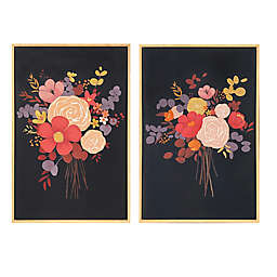 Wild Sage™ Illustrated Floral 20-inch x 30-Inch Framed Canvas Wall Art (Set of 2)