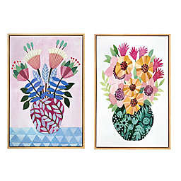 Wild Sage™ Potted Floral 20-inch x 30-Inch Framed Canvas Wall Art (Set of 2)