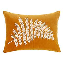 Bee & Willow™ Velvet Fern Oblong Throw Pillow in Gold