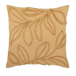 Bee & Willow™ Embroidered Botanical Square Throw Pillow in Gold