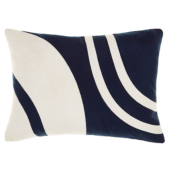 Alternate image 1 for Studio 3B™ Abstract Wave Oblong Throw Pillow