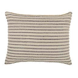 Bee & Willow™ Woven Stripe Oblong Throw Pillow in Sharkskin