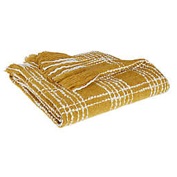 Bee & Willow™ Tattersall Plaid Throw Blanket in Gold