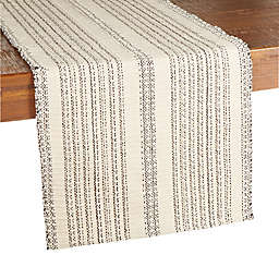 Our Table™ Tonal Textured Stripe Table Runner in Natural/Black