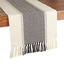 Our Table™ Woven Chevron Table Runner in Charcoal