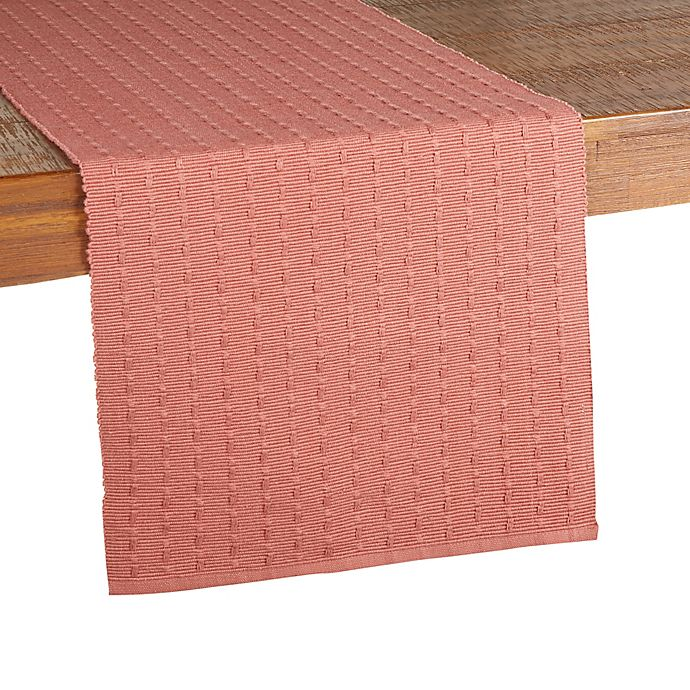 Alternate image 1 for Our Table™ Textured Stitch Table Runner in Cedar Wood