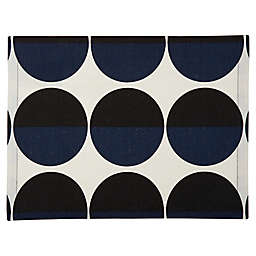 Studio 3B™ Two-Tone Circle Placemat in Blue/Black