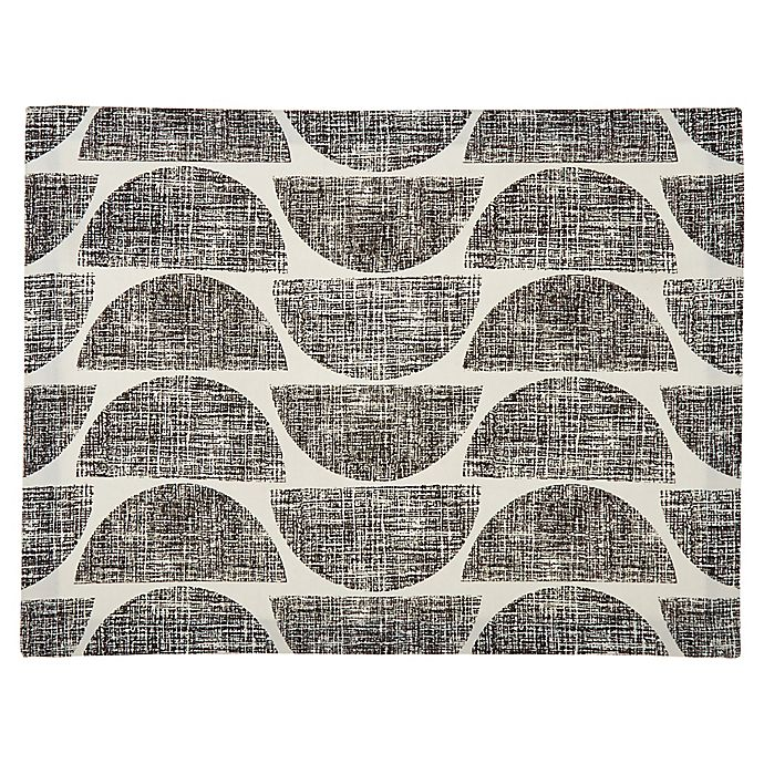 Alternate image 1 for Studio 3B™ Distressed Semi Circle Placemat in Black/White