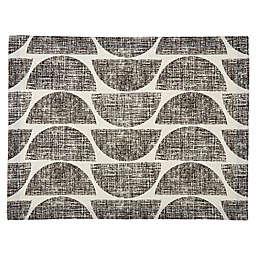Studio 3B™ Distressed Semi Circle Placemat in Black/White