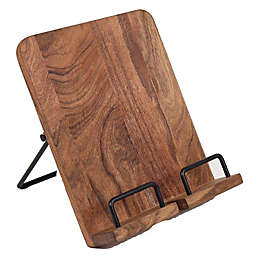 Our Table™ Wood and Metal Cookbook Holder in Black