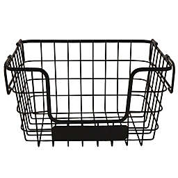 Our Table™ Stackable Metal Fruit Basket in Black