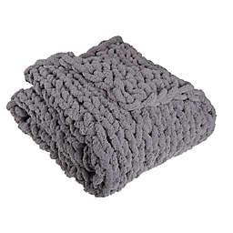 Studio 3B™ Chunky Knit Throw Blanket in Grey