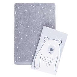 Marmalade™ Polar Bear 2-Piece Bath Towel Set in Grey/Snow