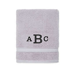 Nestwell™ Hygro Monogram Cotton Solid Bath Towel in Lilac