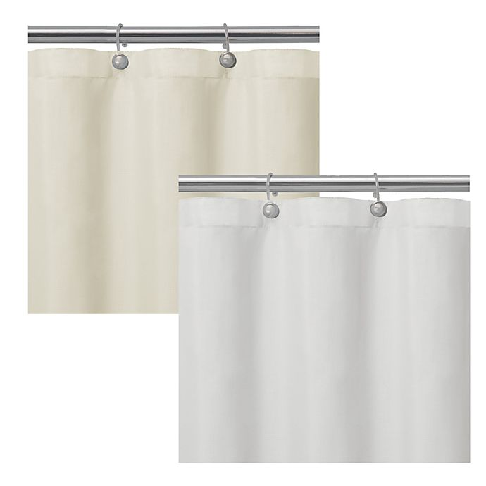 Matthew Textured Microfiber Shower Curtain Liner