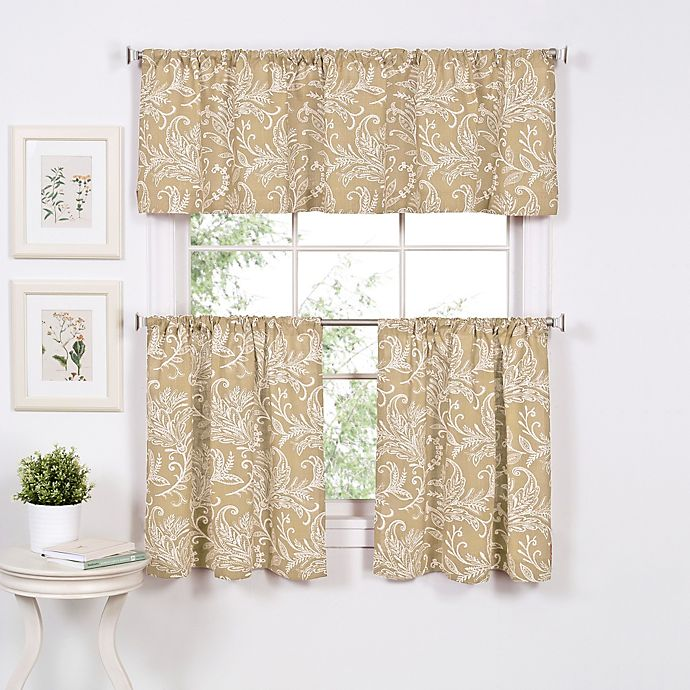 Alternate image 1 for Flora 36-Inch Window Curtain Tier Pair in Linen