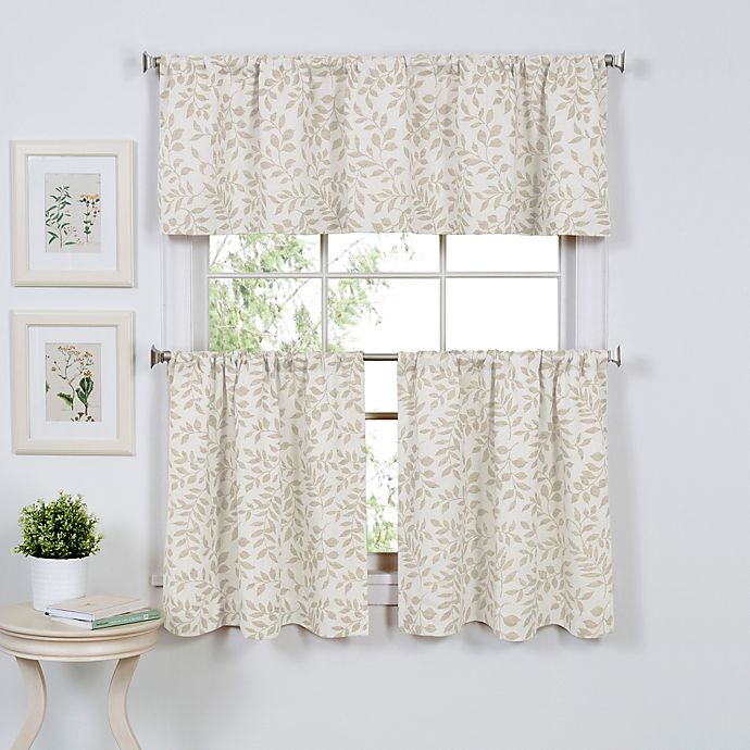 Alternate image 1 for Serene Window Curtain Tier Pairs and Valance