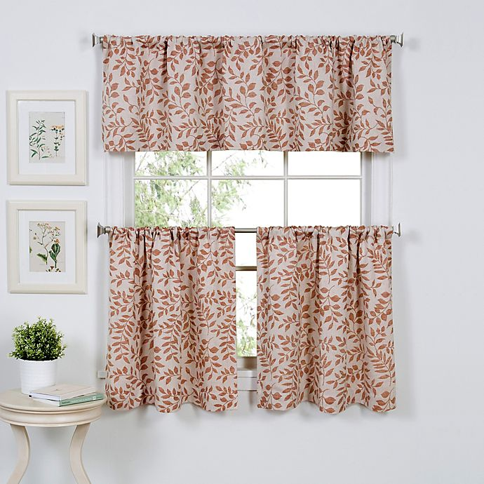 Alternate image 1 for Serene 36-Inch Window Curtain Tier Pair in Spice