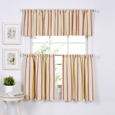 Updated Ticking Window Curtain Tier Pairs Bed Bath Amp Beyond