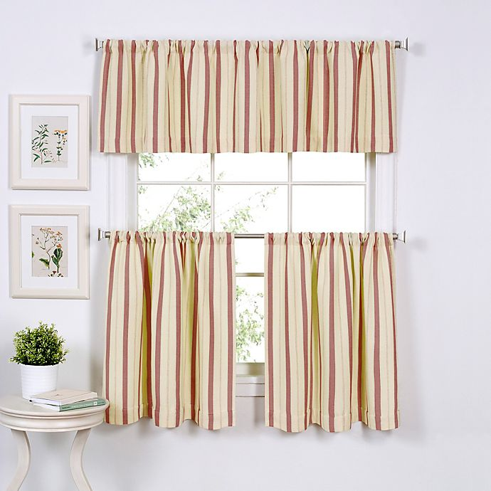 Alternate image 1 for Updated Ticking Window Curtain Tier Pairs