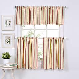 Updated Ticking Window Curtain Tier Pairs