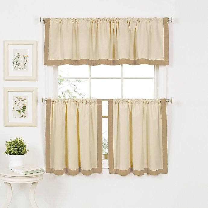 Alternate image 1 for Wilton 36-Inch Window Curtain Tier Pair in Linen