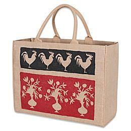 French Market Jute Tote Bag