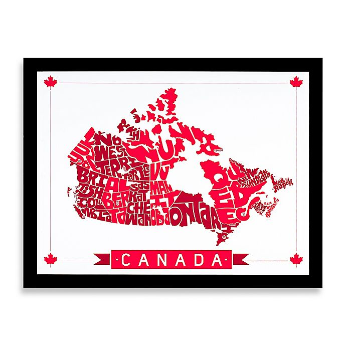 Alternate image 1 for Canada Map Framed Wall Art