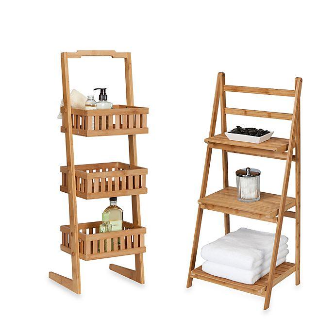 Alternate image 1 for Creative Bath™ Bamboo Shelf Towers