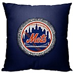 MLB New York Mets 18-Inch Letterman Throw Pillow