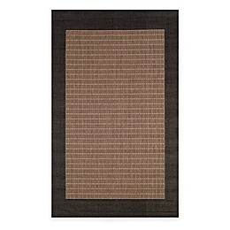 Couristan® Checkered Field Indoor/Outdoor Rug in Cocoa/Black