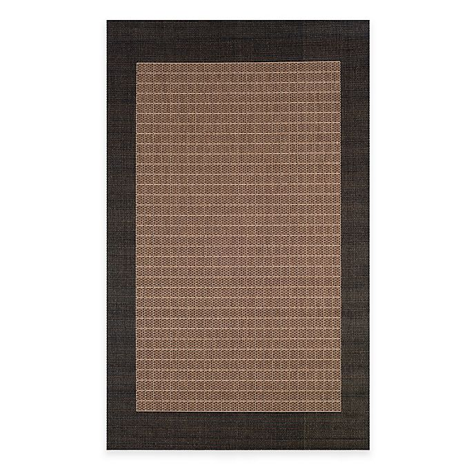 Alternate image 1 for Couristan® Checkered Field Indoor/Outdoor Rug in Cocoa/Black