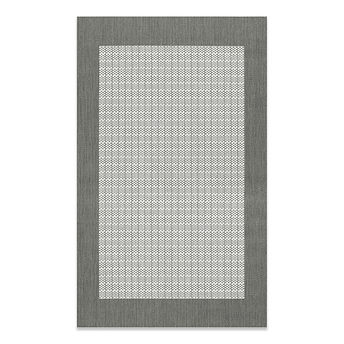 Alternate image 1 for Couristan® Checkered Field Rug in Grey/White