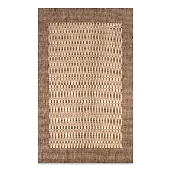 Alternate image 1 for Couristan® Checkered Field Rug in Natural/Cocoa