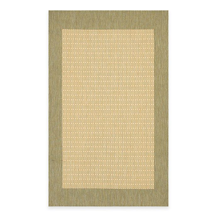Alternate image 1 for Couristan® Checkered Field Rug in Natural/Green
