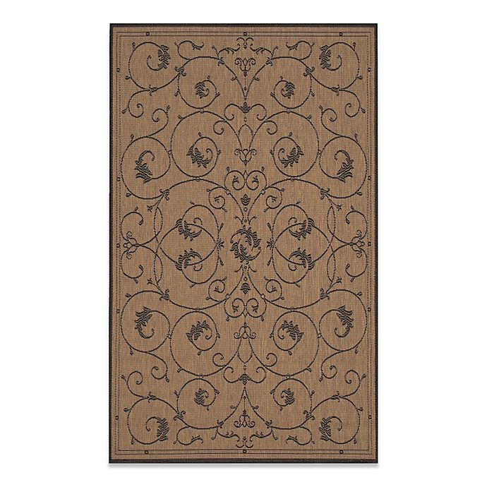 Alternate image 1 for Couristan® Veranda Indoor/Outdoor Rug in Cocoa/Black