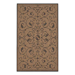 Couristan® Veranda Indoor/Outdoor Rug in Cocoa/Black
